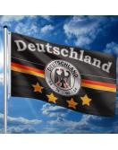 Vlajkový stožár vč. vlajky německého týmu, 650 cm
