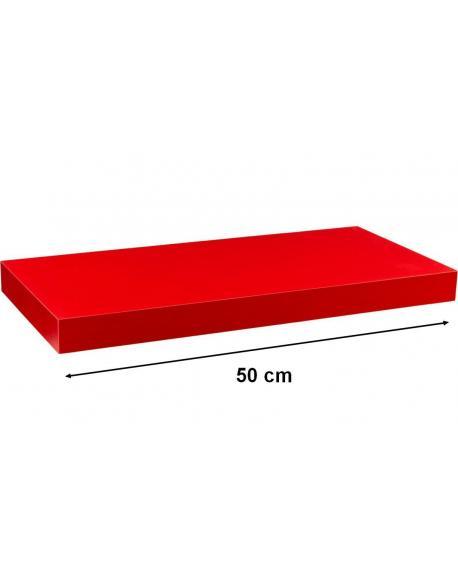 Nástěnná police STILISTA VOLATO - červená 50 cm