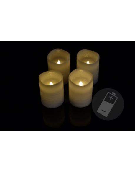 Dekorativní LED sada - 4 adventní svíčky - bílá