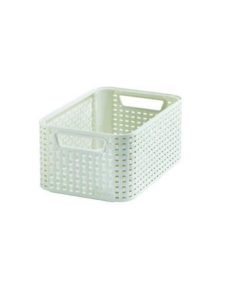 Polyratanový úložný box STYLE - S krémová CURVER