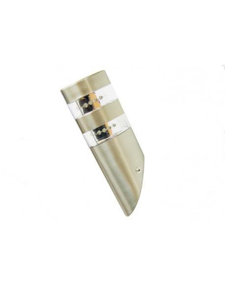 LED nerezová nástěnná lampa Garth s 2 x 12 LED diodami 23,5 cm