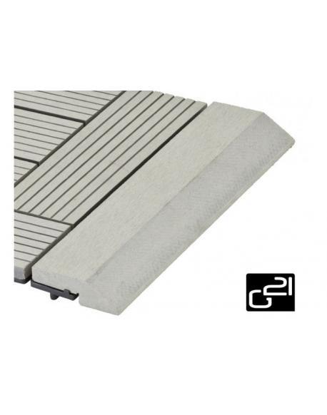 Přechodová lišta G21 pro WPC dlaždice Incana, 30x7,5 cm rovná