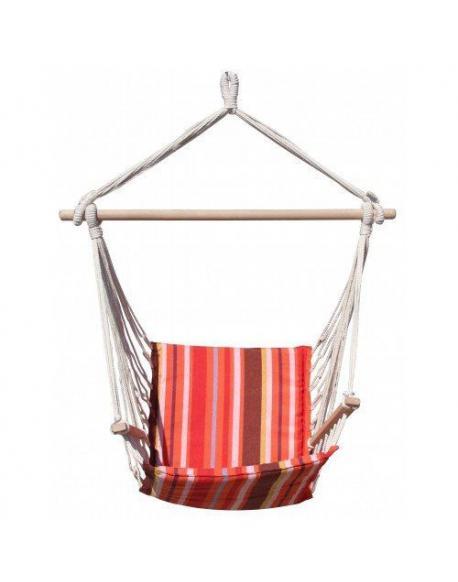 Houpačka Dimenza Dalian - červená spruhy