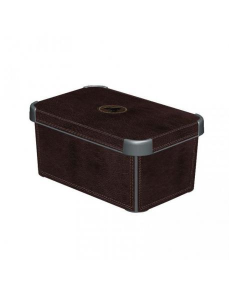 Plastový úložný box DECO - S - LEATHER CURVER