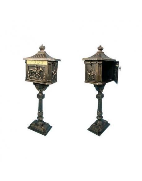 Ozdobná poštovní schránka - bronzová