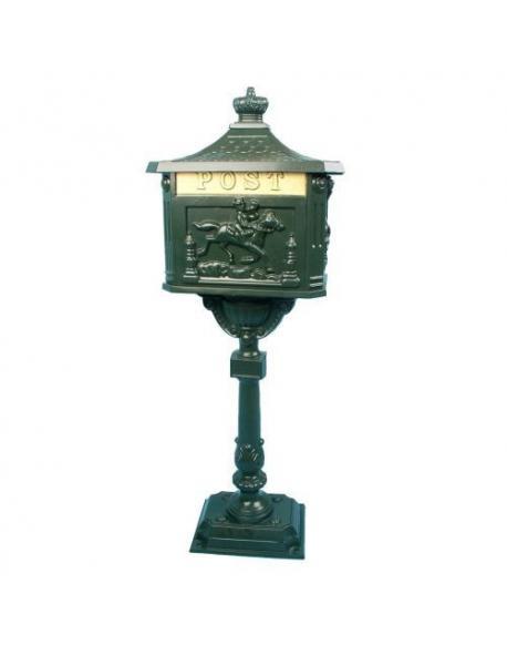 Ozdobná poštovní schránka - olivově zelená