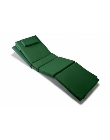 Sada 2 ks polstrování na lehátko - tmavě zelená