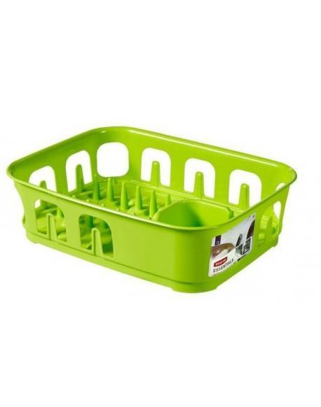 Odkapávač nádobí ESSENTIALS čtverec - zelený CURVER